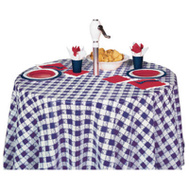 Creative Converting 41189 82 Inch BLU RND Table Cover