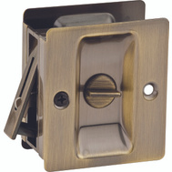 Kwikset 333 5 CP Pocket Door Privacy Notched Pocket Door Latch Antique Brass