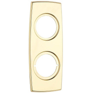 Kwikset 262 3 CP Parts Rectangular Combo Trim Plate Polished Brass