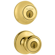 Kwikset 690T 3 6AL RCS Tylo Keyed Entry And Single Cylinder Deadbolt Polished Brass