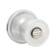 Kwikset 730A 26D 6AL RCS Abbey Bed And Bath Privacy Lockset Satin Chrome