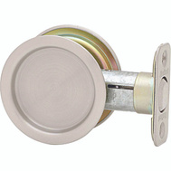 Kwikset 334 26D RND Pocket Door Passage Round Pocket Door Pull Satin Chrome