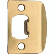 Kwikset 3437 01 3 CP Parts Latch Strike Plate Polished Brass