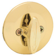 Kwikset 663 3 CP RCL RCS Security One Sided Deadbolt Polished Brass