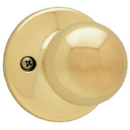 Kwikset 488P 3 CP Polo Half Dummy Knob Pull Polished Brass