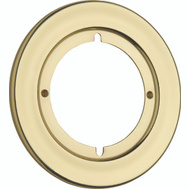 Kwikset 293 3 CP Parts Round Rosette Trim Polished Brass