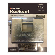 Kwikset 90250-033 Black & Decker 80Mm 3-3/16 Inch Solid Brass Heavy Duty Armored Padlock Chrome Plated
