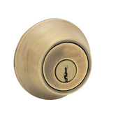 Kwikset 660 5 CP RCAL RCS K6 Security Single Cylinder Deadbolt Antique Brass