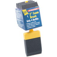 Foampro 72-4 Refillable Foam Brushes With 4 Refills 2 Inch