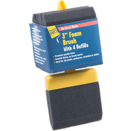 Foampro 73-4 Refillable Foam Brushes With 4 Refills 3 Inch