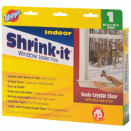 Warp Brothers SF-6425 Shrink It Window Insulator Kits Indoor 64 Inch By 25 Inch
