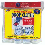 Warp Brothers JC-9124 Jiffy Cover Drop Cloth Plastic Heavy Duty 9 Foot By 12 Foot