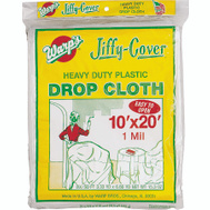 Warp Brothers JC-1020 Jiffy Cover Drop Cloth Plastic Heavy Duty 10 Foot By 20 Foot