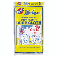 Warp Brothers 4JC-912 Jiffy Cover Drop Cloth Plastic Super Heavy Duty 9 Foot By 12 Foot