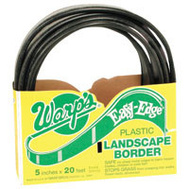 Warp Brothers LBS-520-B Easy Edge Landscape Edging Plastic Black 5 Inch By 20 Foot