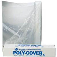 Warp Brothers 2X12-C Poly Cover Waterproof Polyethylene Film 12 Feet By 200 Feet 2 Mil Clear Plastic