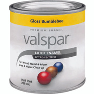 Valspar 65010 Premium Yellow Gloss Interior Exterior Enamel 1/2 Pint Water Based