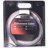 Baron 0 9005/50090 1/4 Inch By 50 Foot 7X19 Galvanized Aircraft Cable