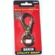 Baron C-251BT-3 Quick Snap 3/4 Inch Swivel Eye 4-9/16 Inch Overall Length Solid Bronze