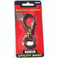 Baron C-251B-2 Quick Snap 3/4 Inch Swivel Eye 3-3/4 Inch Overall Length Solid Bronze