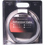 Baron 59005/50095 1/4 Inch By 100 Foot 7X19 Galvanized Aircraft Cable