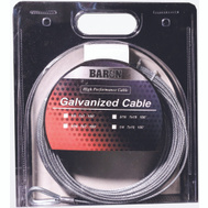 Baron 83105/50130 3/8 Inch By 50 Foot 7X19 Galvanized Aircraft Cable