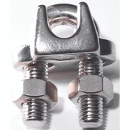 Baron S850-826 3/16 Inch Wire Cable Clamp Stainless Steel (Pack Of 2)