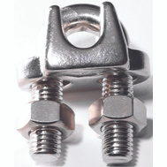Baron S850-834 1/4 Inch Wire Cable Clamp Stainless Steel (Pack Of 2)