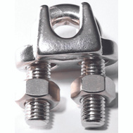 Baron S850-859 3/8 Inch Wire Cable Clamp Stainless Steel