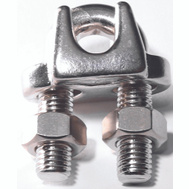 Baron S850-883 1/2 Inch Wire Cable Clamp Stainless Steel