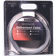 Baron 96005/50069 1/8 Inch By 100 Foot 7X7 Galvanized Aircraft Cable