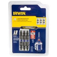 Irwin 1903514 Double Ended Impact Power Bits 4 Piece Square