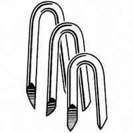 National Nail 0079078 Pro Fit Electro Galvanized Fence Staples 1-1/4 Inch 1 Pound