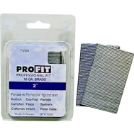 National Nail 0712504 Pro Fit 2 Inch By 16 Gauge Smooth Shank Brad (Pack Of 1000)