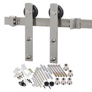 Renin BD100K-78 Decorative Straight Strap Interior Barn Door Hardware Kit 78 Inch Stainless Steel