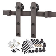 Renin BD100K-78 Decorative Straight Strap Interior Barn Door Hardware Kit 78 Inch Antique Bronze