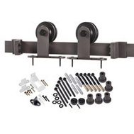 Renin BD101K-78 Decorative Top Mount Interior Barn Door Hardware Kit 78 Inch Stainless Steel