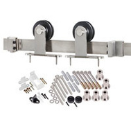 Renin BD101K-78 Decorative Top Mount Interior Barn Door Hardware Kit 78 Inch Antique Bronze