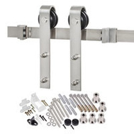 Renin BD102K-78 Decorative Bent Strap Interior Barn Door Hardware Kit 78 Inch Stainless Steel