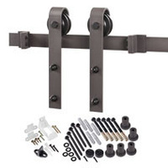 Renin BD102K-78 Decorative Bent Strap Interior Barn Door Hardware Kit 78 Inch Antique Bronze
