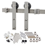 Renin BD100K-96 Decorative Straight Strap Interior Barn Door Hardware Kit 96 Inch Stainless Steel