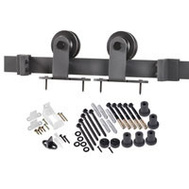 Renin BD101K-96 Decorative Top Mount Interior Barn Door Hardware Kit 96 Inch Matte Black