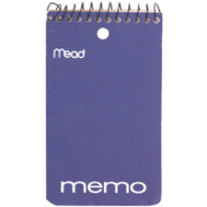 Mead 45354 60 Ct 3 By 5 Memo Book