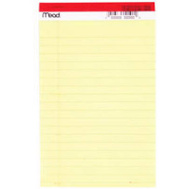 Mead 59614 50 Ct 5 By 8 Yellow Legal Pad