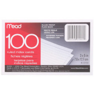 Mead 63350 100 Ct 3 By 5 Index Card
