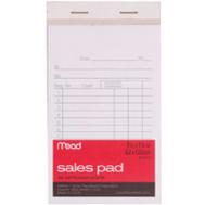 Mead 64804 50 Ct 8 1/2 X5 1/2 Sales Pad