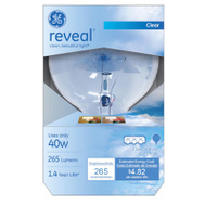 GE Lighting 48694 40 Watt Reveal Vanity Globe G25 Shape Crystal Clear