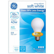 GE Lighting 66247 Ge 43w Wht Halo Bulb 4 Pack