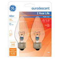 GE Lighting 75343 Ge 40w Aurades Bulb 2 Pack