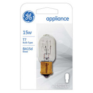 GE Lighting 35154 15 Watt Direct Current Bay Tube Appliance Bulb T7 Clear